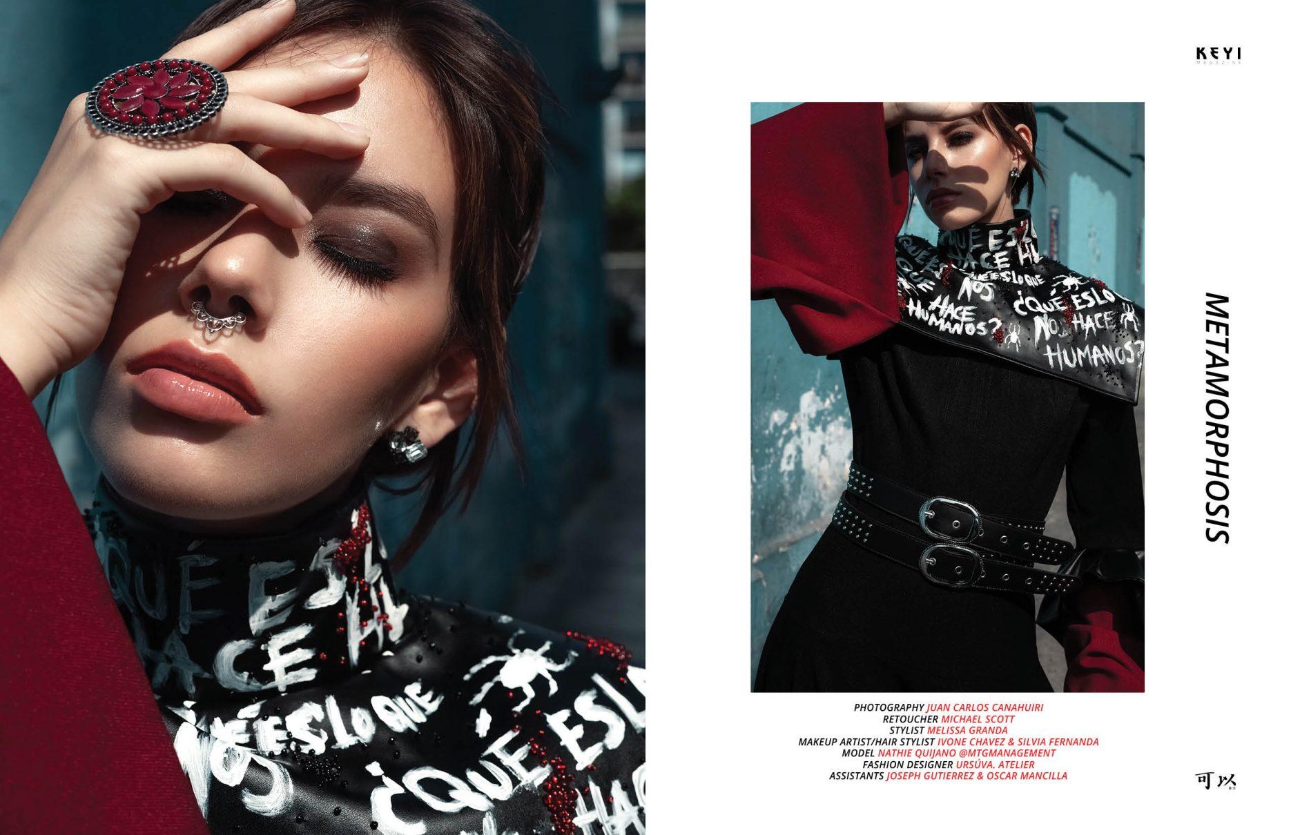 fashion shoot for keyi magazine