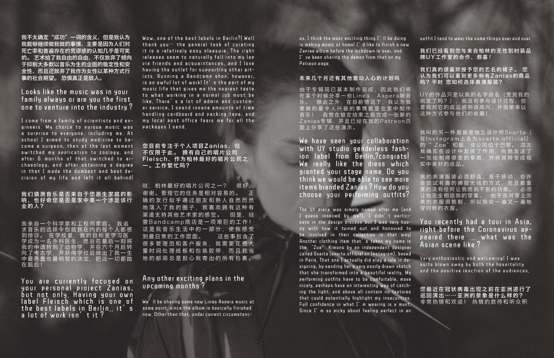 interview editorial with zanias photos by keyi studio for keyi magazine berlin