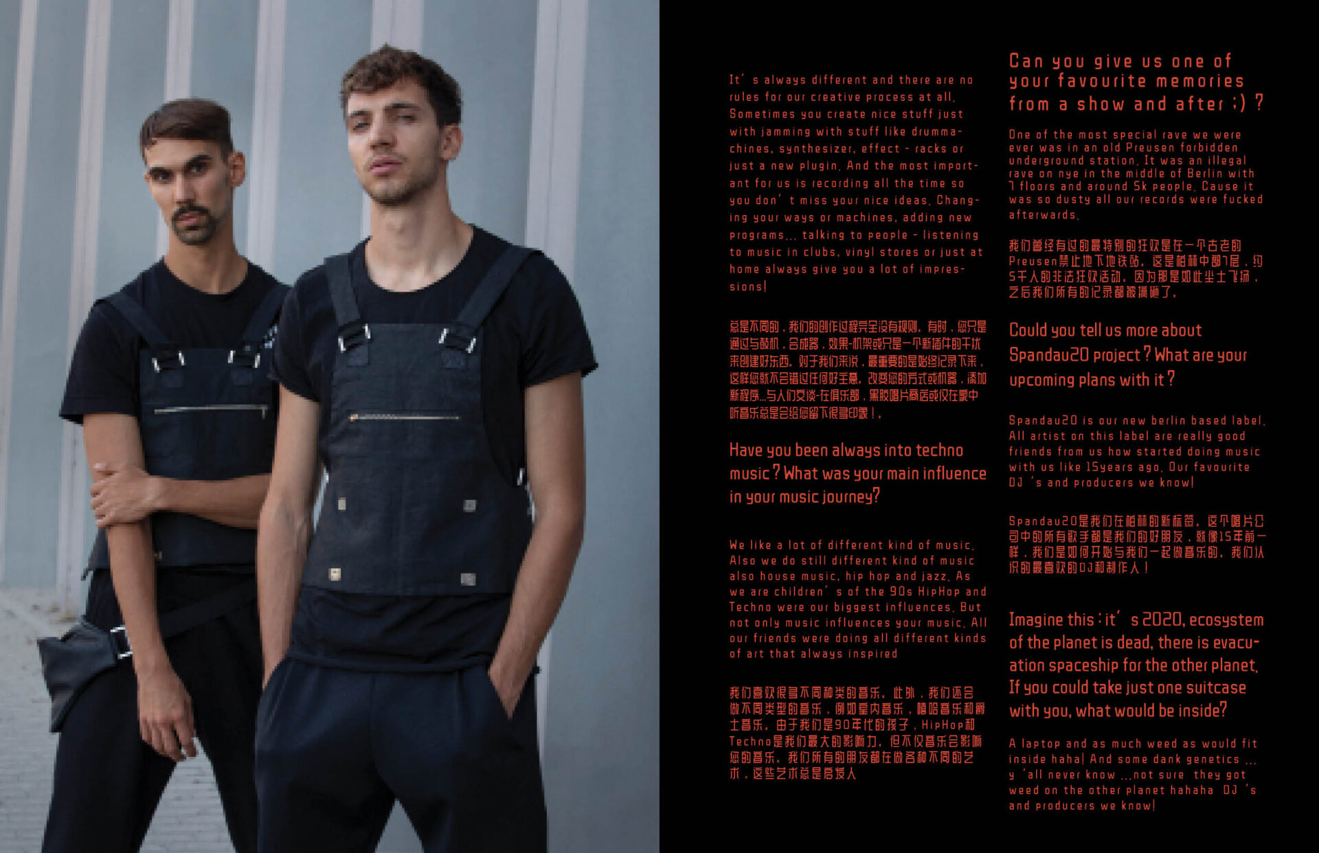 interview / editorial MEET:FJAAK photos by Grzegorz Bacinski & Izabella Chrobok for KEYI MAGAZINE BERLIN