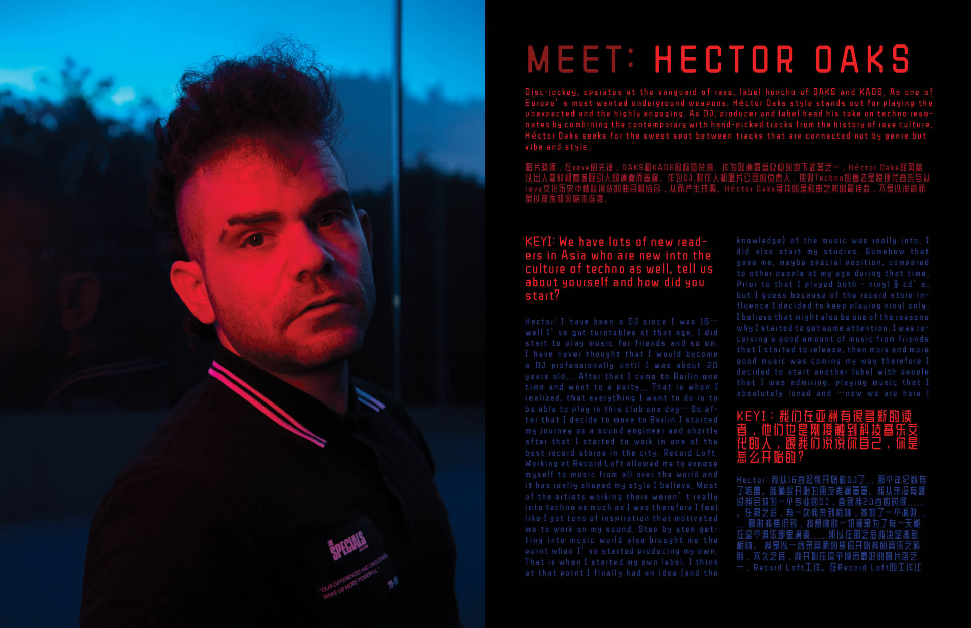 photoshoot with hector oaks for keyi magazine Berlin by keyi studio