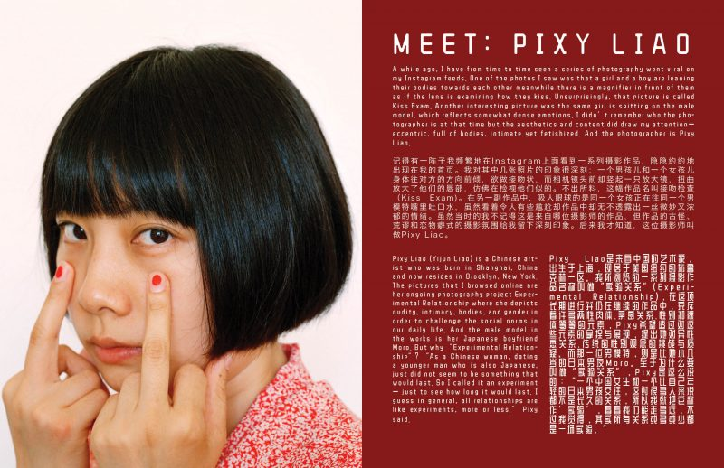 Pixy Liao (Yijun Liao) is a Chinese artist who was born in Shanghai, China and now resides in Brooklyn, New York.