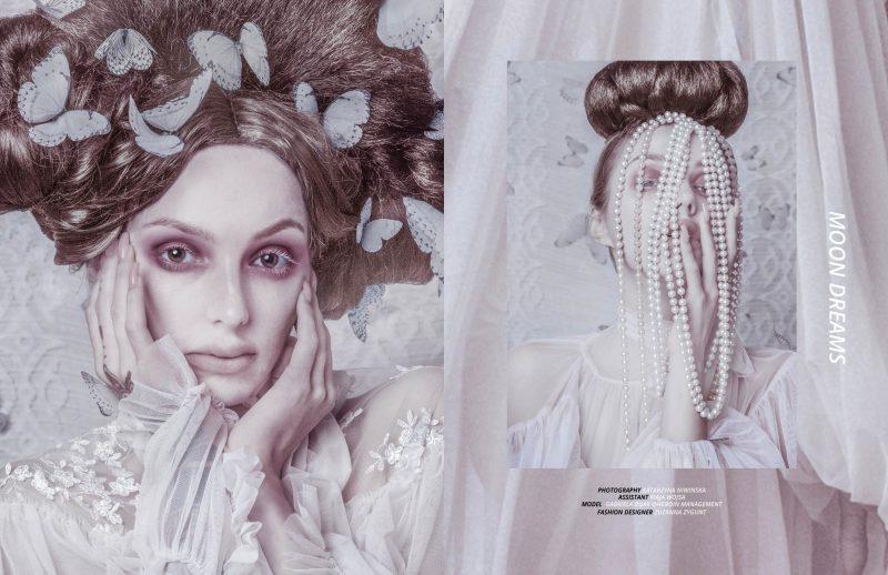 Editorial photoshoot for Keyi Magazine Berlin by Katarzyna Niwinska with Gabriela Buak and fashion by Zuzanna Zygunt