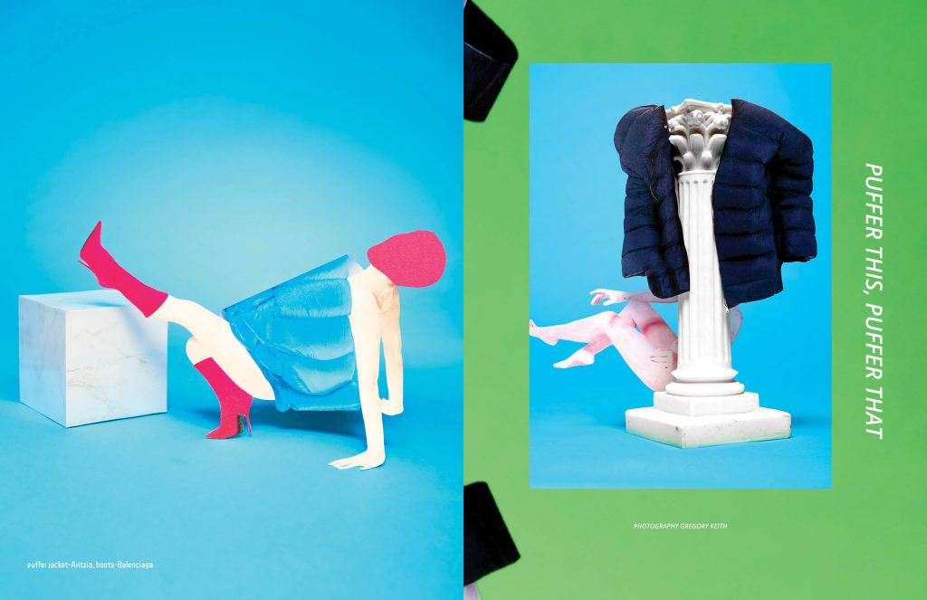 """Editorial """"PUFFER THIS, PUFFER THAT made by Gregory Keith for Keyi Magazine Berlin Fashion Art Music Magazine"""