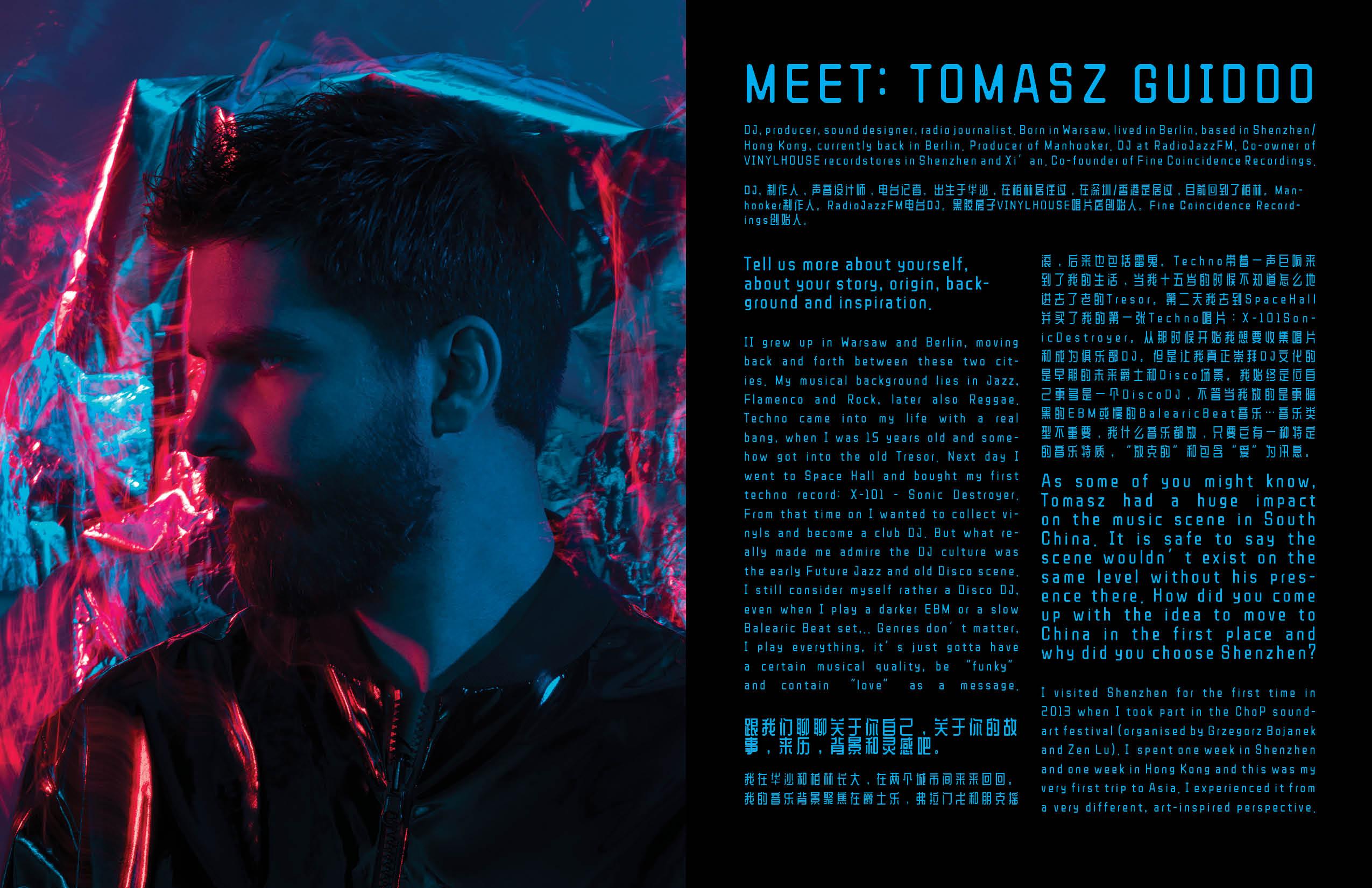 TOMASZ GUIDDO interview and video/photos by Grzegorz Bacinski & Izabella Chrobok from KEYI Studio