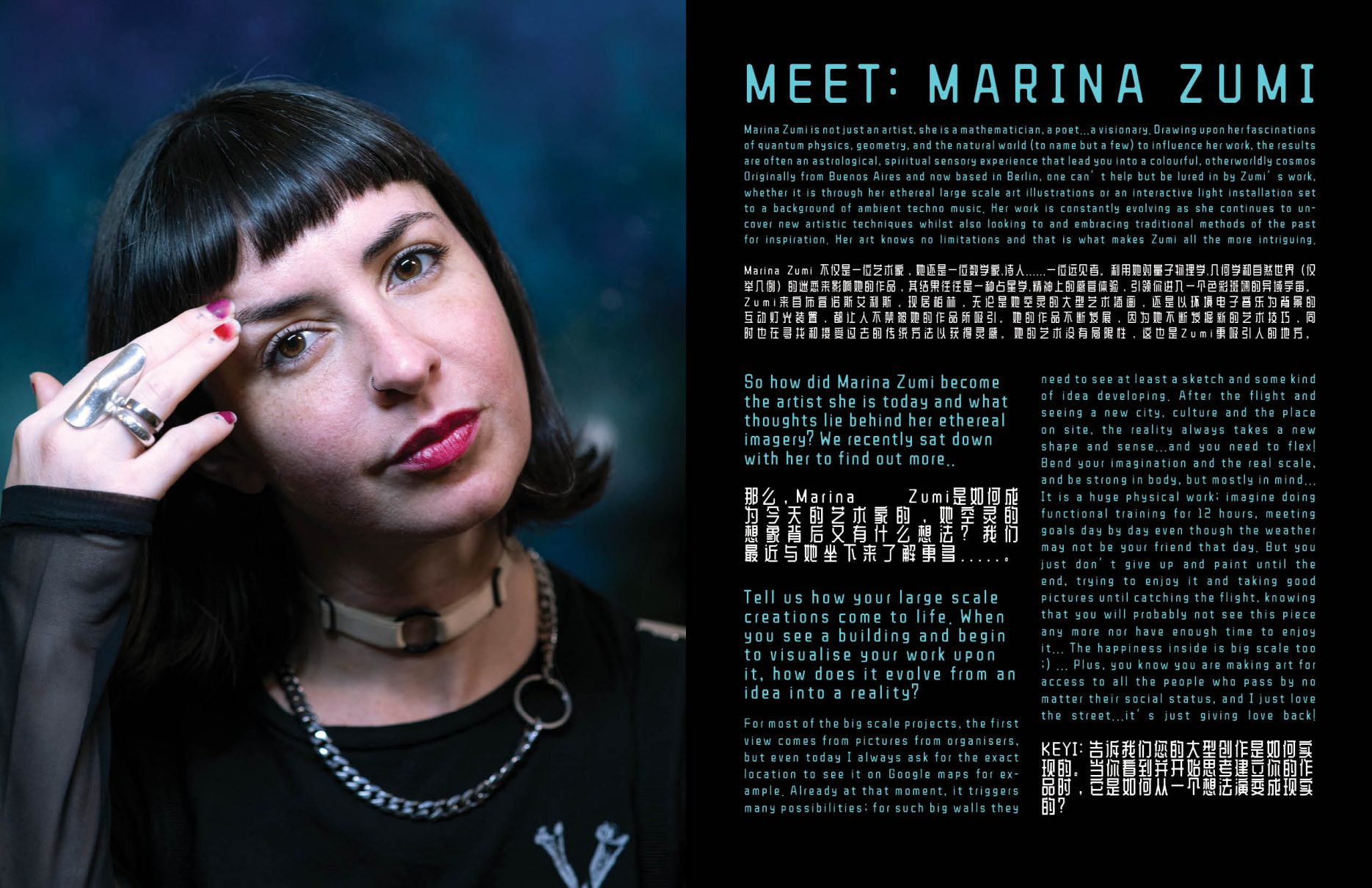 Marina Zumi interview by Hazel Rycraft and photos by KEYI Studio