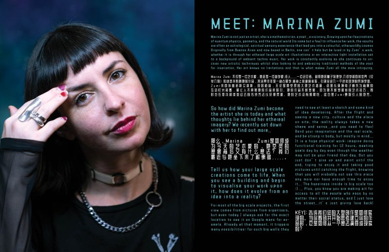 Marina Zumi interview by Hazel Rycraft and photos by KEYI Studio