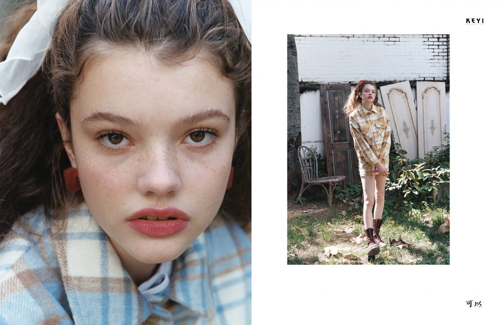 """""""Watch out baby"""" by Sunghee Moon with Laura from Milk Agency for Keyi Magazine Berlin"""