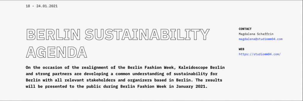 NEWS:Berlin Fashion Week 2021 fashion shows ,conferences, expert talks, new formats, strong players, national & international designers
