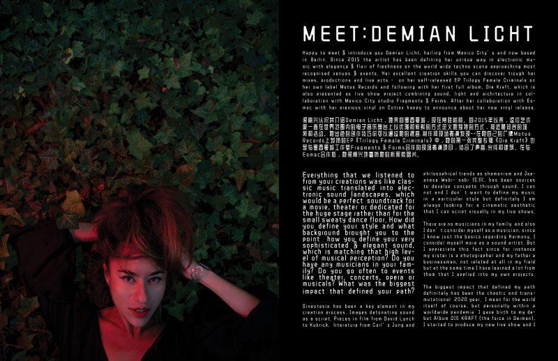 photoshoot interview demian licht keyi magazine Grzegorz Bacinski izaeblla Chrobok
