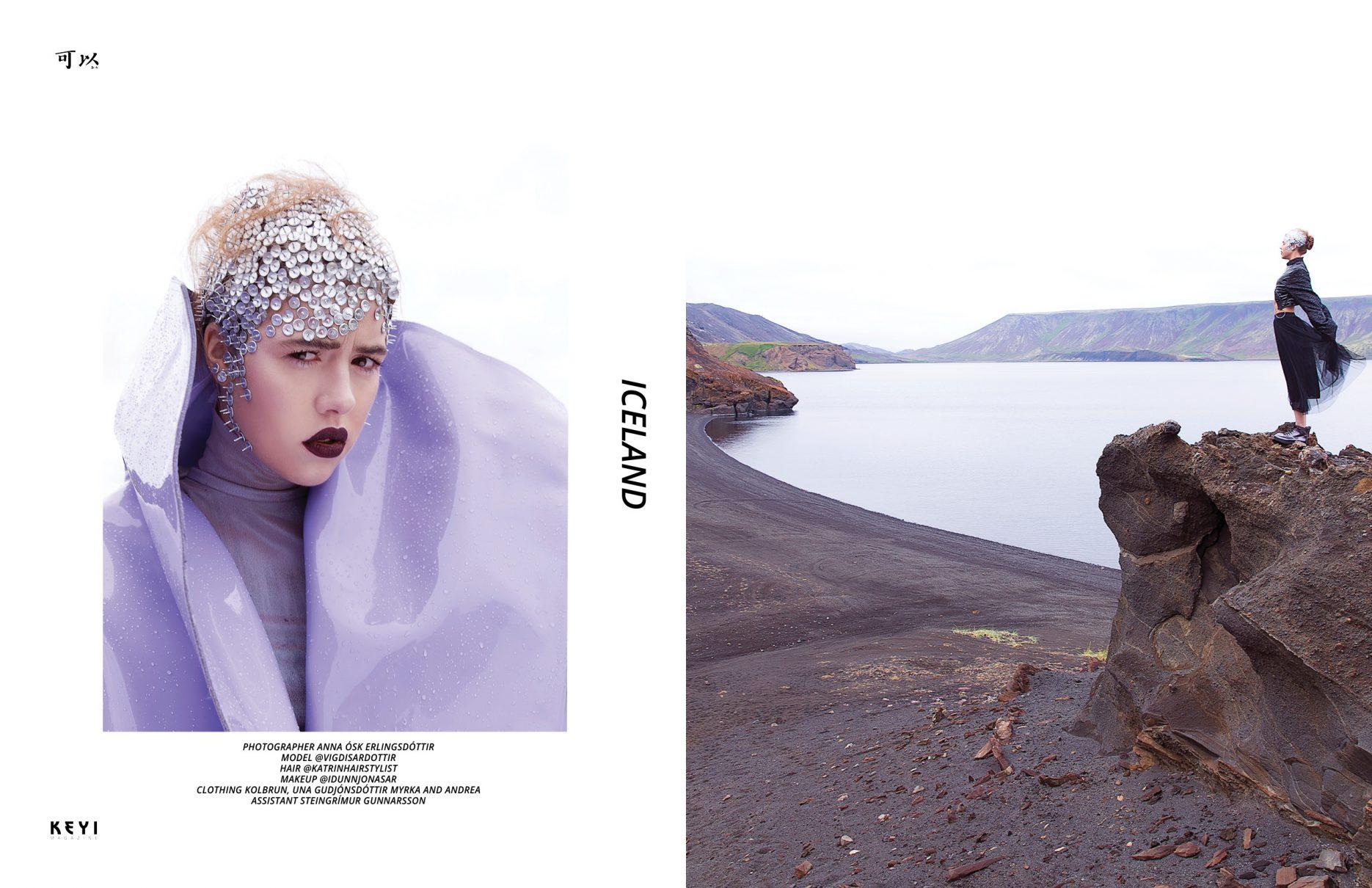 "Editorial ""Iceland"" by Anna Ósk Erlingsdóttir with mode HULDA @vigdisardottir for KEYI Magazine Berlin / Art Music Fashion /"