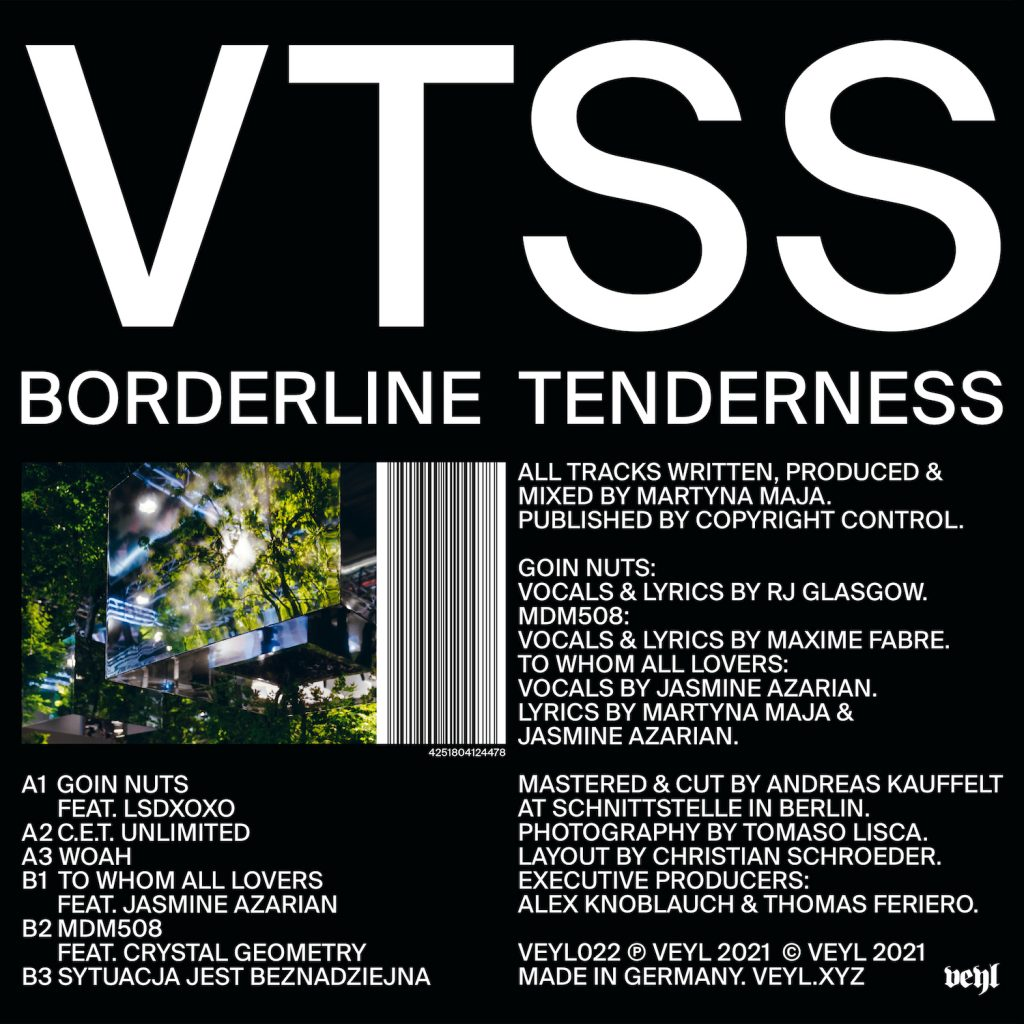 NEWS:The new generation of techno VTSS returns with a EP titled 'Borderline Tenderness'. for Keyi Magazine Berlin