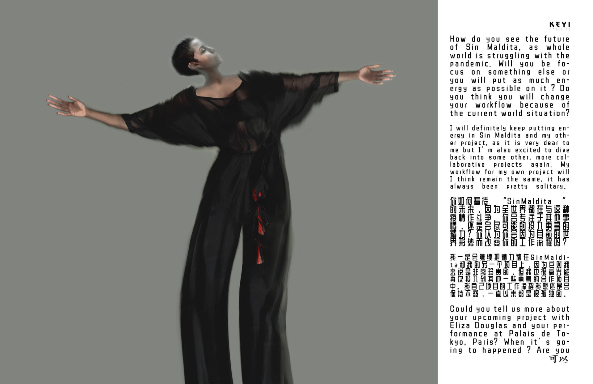 Interview Sin Maldita Berlin-based artist Tim Roth is involving into another spectrum with his project for KEYI Magazine with Petra Hermanova