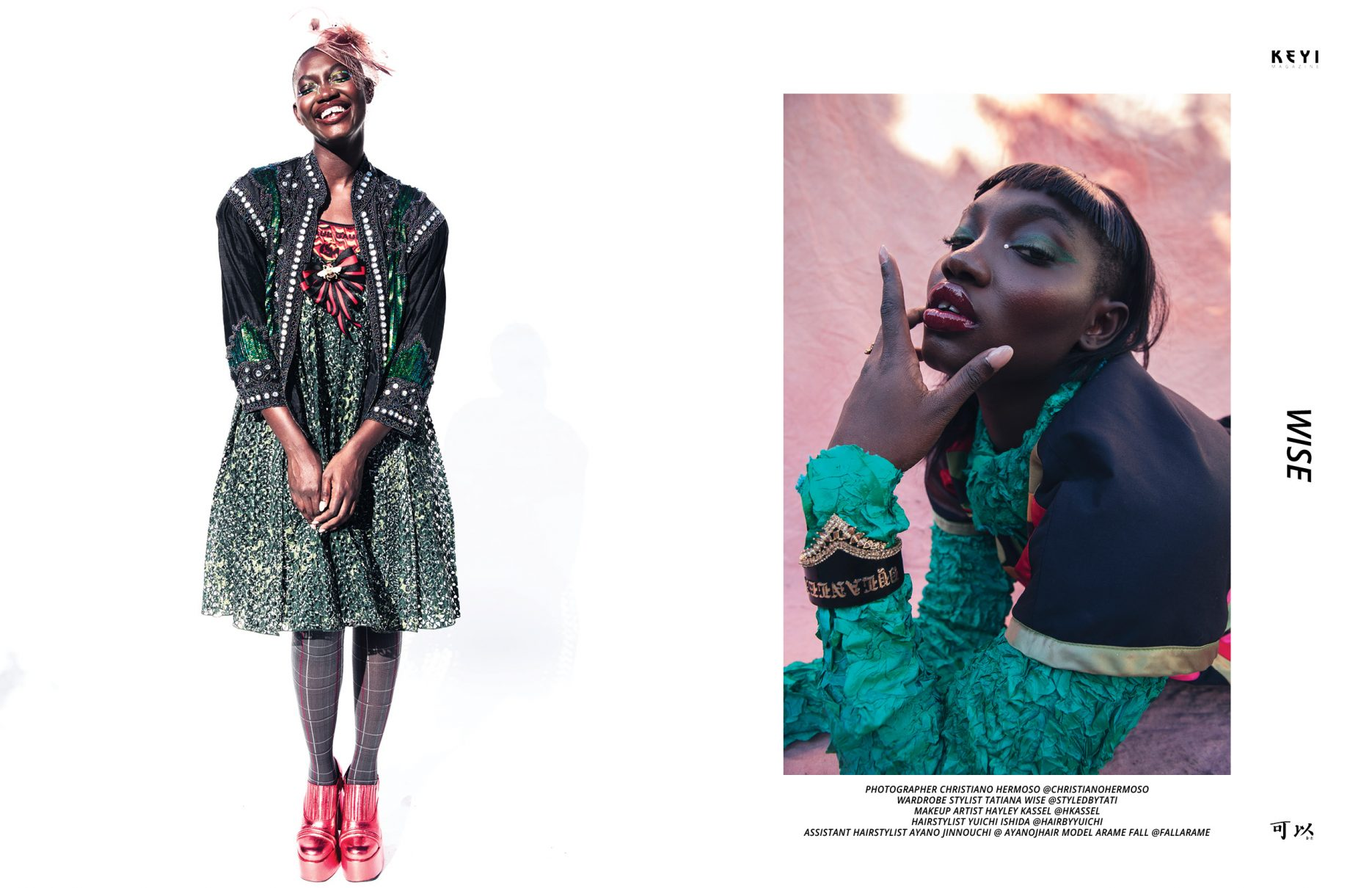 """Wise"" by Christiano Herooso with Arame Fall. Styling by Tatiana Wise. Makeup by Hayley Kassel"