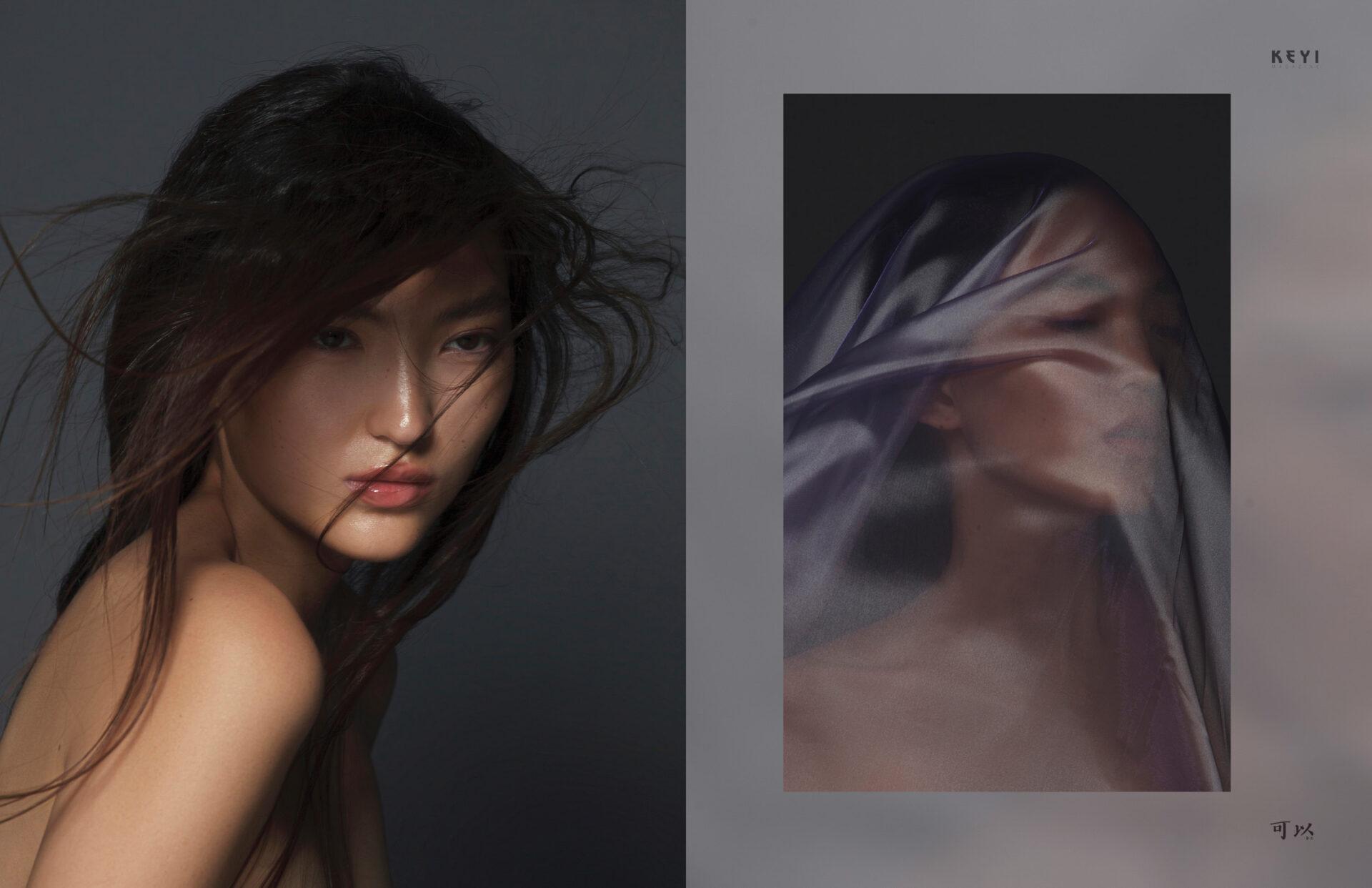 """Venera"" by Venera Abibullaeva  with Borte from Ultra  Models Agency for KEYI Magazine Berlin"