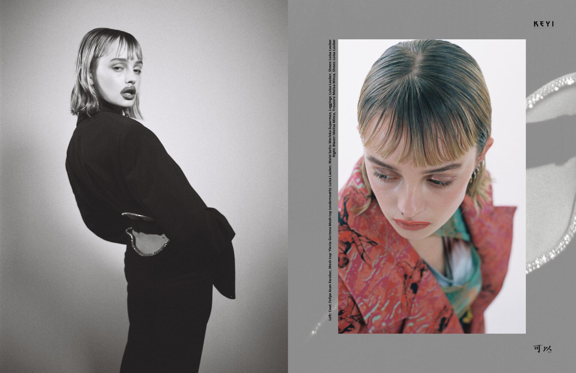 """Time Distortion"" by Grzegorz Bacinski & Izabella Chrobok with Maja Bons from Izaio Model Management. Styling by Samantha Pletzke and Make up & Hair by Claudia Fischer"
