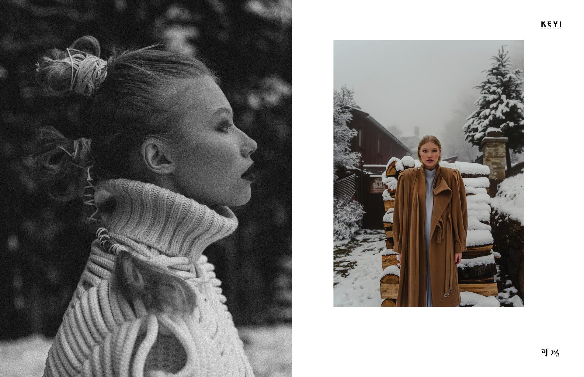 """editorial """"Cold woman"""" by Dominika Witos with Magda Kurczewska from Made by Milk Agency. Make up by Paulina Witek and Hair by Radosław Galiński"""