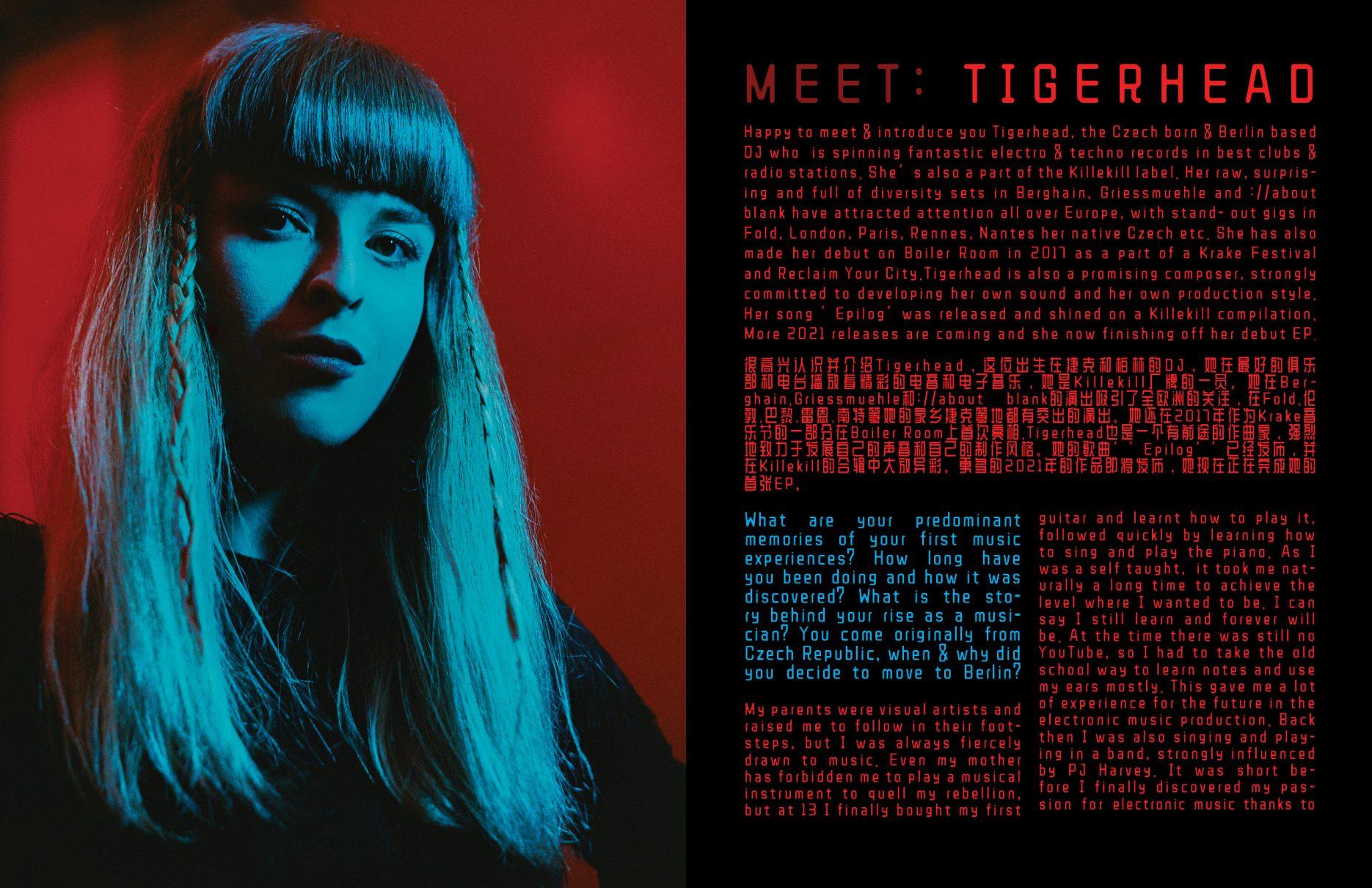 interview Tigerhead Tereza R interview by Izabella Chrobok & Grzegorz Bacinski and photos editorial; by KEYI STUDIO
