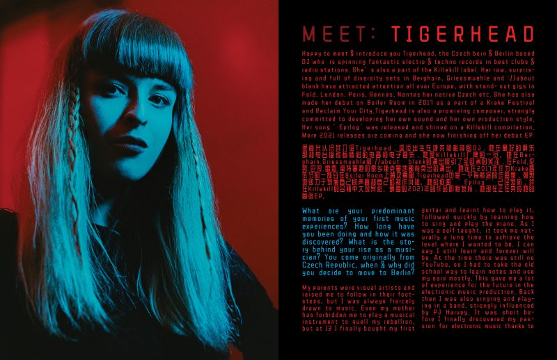 interview Tigerhead Tereza R interview by Izabella Chrobok & Grzegorz Bacinski and photos editorial; by KEYI STUDIO
