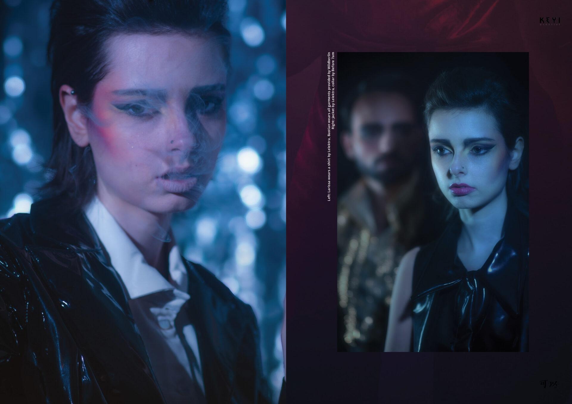 """Space Cowboys"" by Joel Ivan Thomas with Larissa Matheus & Bastian Castillo. Styling by Lisa Eisert. Make up by Carmen Meyer"