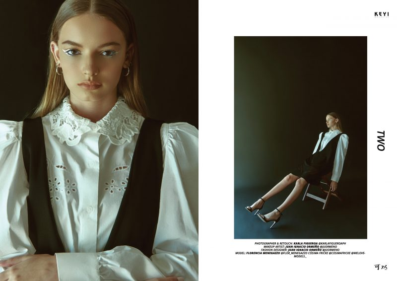 """""""TWO"""" by Karla Figueroa with Florencia Menegazzo and Cósima Fricke from We love models agency. Make up by Juan Ignacio Ormeño"""