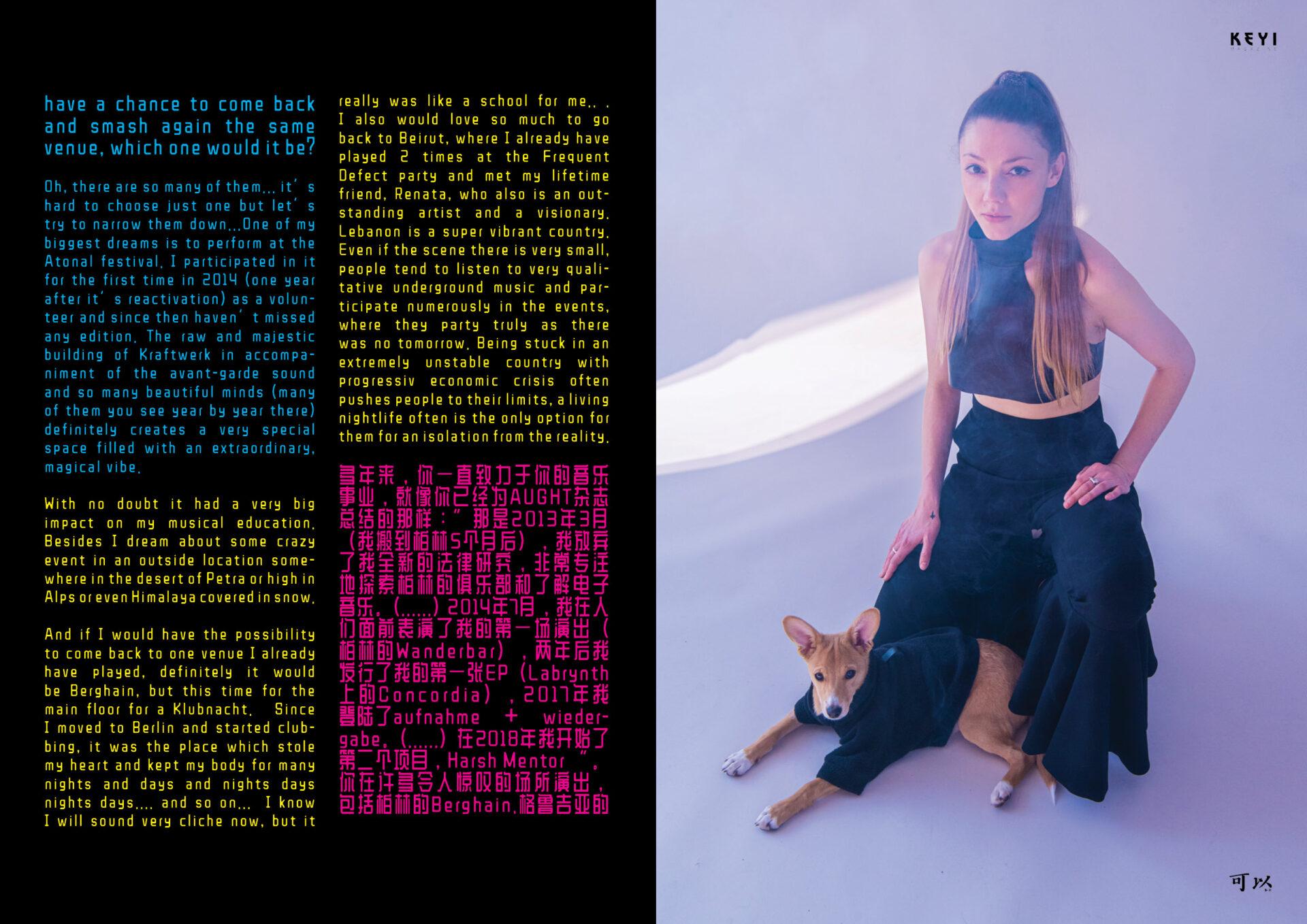 Interview Melania. by KEYI Studio. Interview by Izabella Chrobok & Grzegorz Bacinski. Fashion from Studio183 Berlin. Akira Styled by UY Studio.