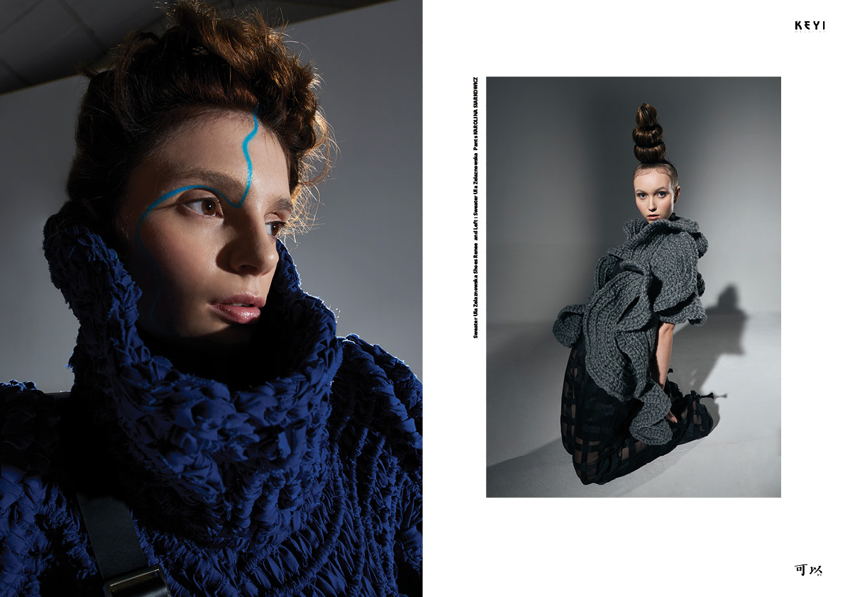 """""""Esthétique de la mode organique"""" by Monika Płusa with Ola Anker from MORE models and Natalia Gumienia from Wave Models. Makeup by Monika Dembińska"""
