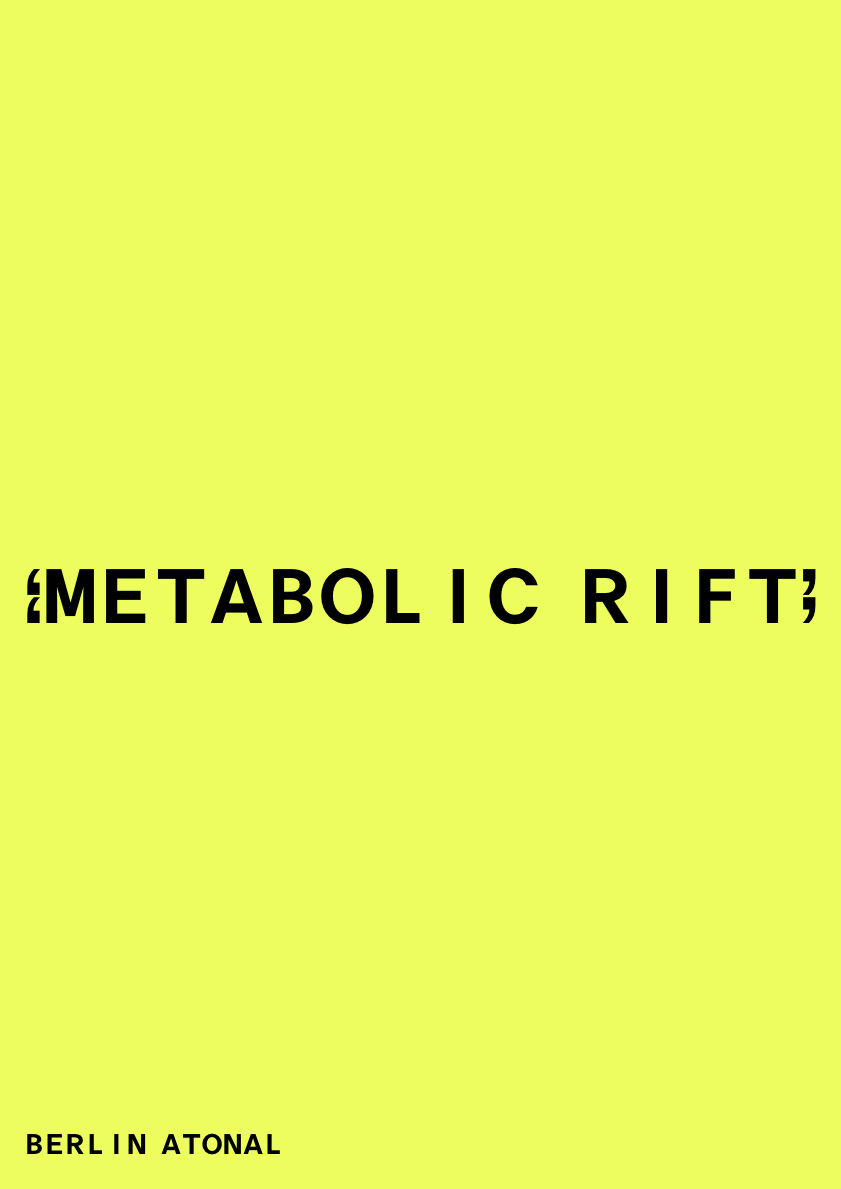 Berlin Atonal presents Metabolic Rift: an (un)guided exhibition-tour through the entire Kraftwerk building.