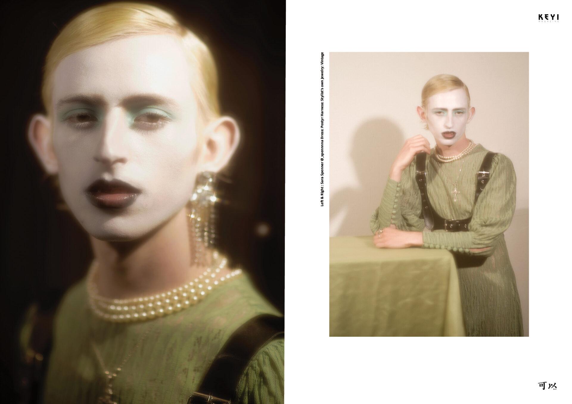 """Swan Dive"" by Joel Ivan Thomas with Gabriel Gifford. Stylist Catarina Assunção and Make up by Aurelia Salvaggio"